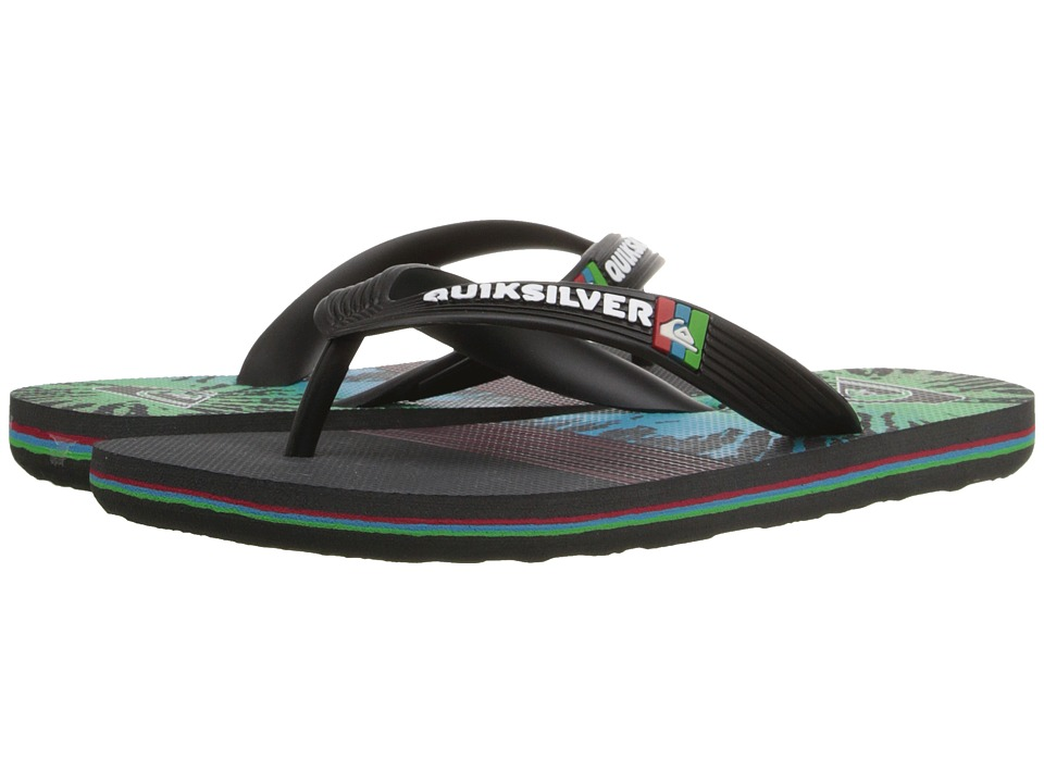 Quiksilver Kids - Molokai Remix (Toddler/Little Kid/Big Kid) (Black/Red/Green) Boys Shoes
