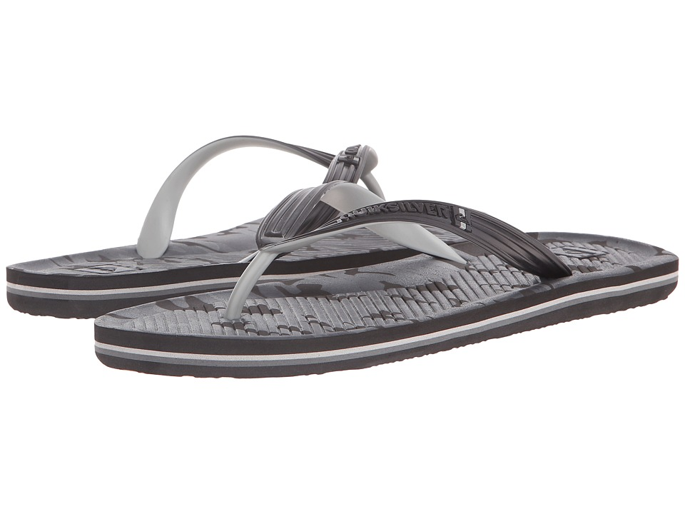 Quiksilver - Haleiwa Print (Black/Black/Grey) Men's Sandals