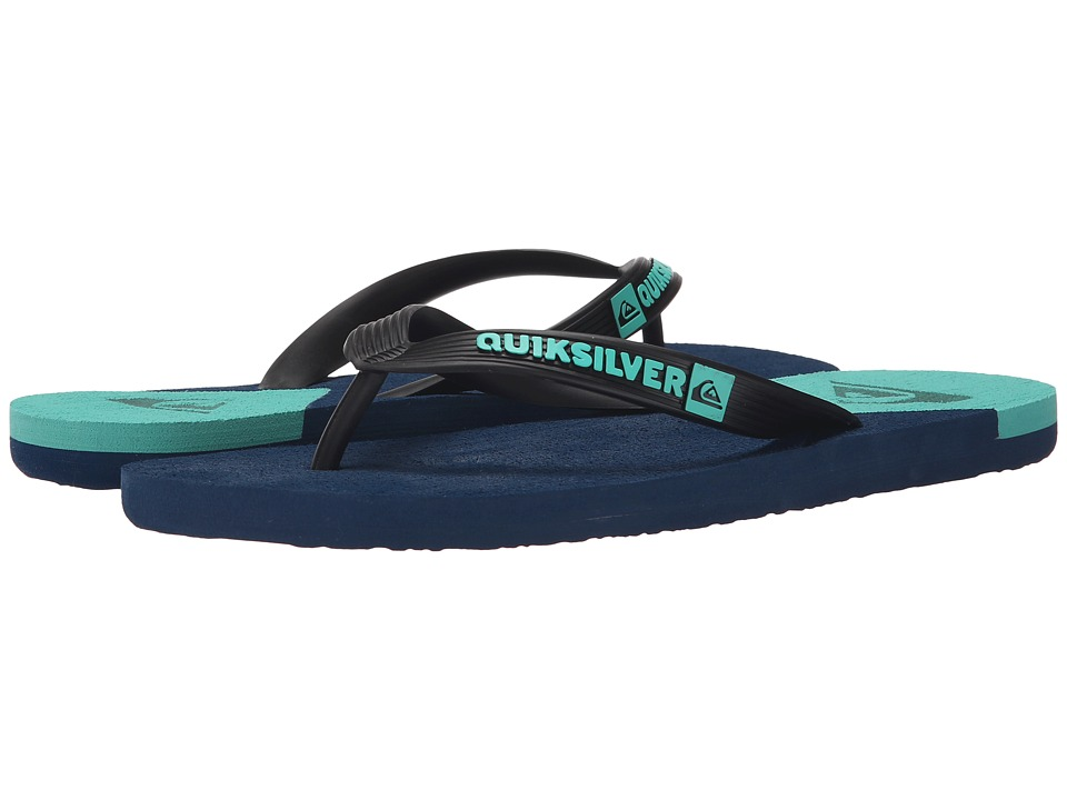 Quiksilver - Molokai New Wave (Black/Blue/Blue) Men's Sandals
