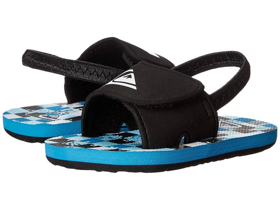 Quiksilver Kids - Molokai Layback (Infant/Toddler) (Black/Blue/White) Boys Shoes