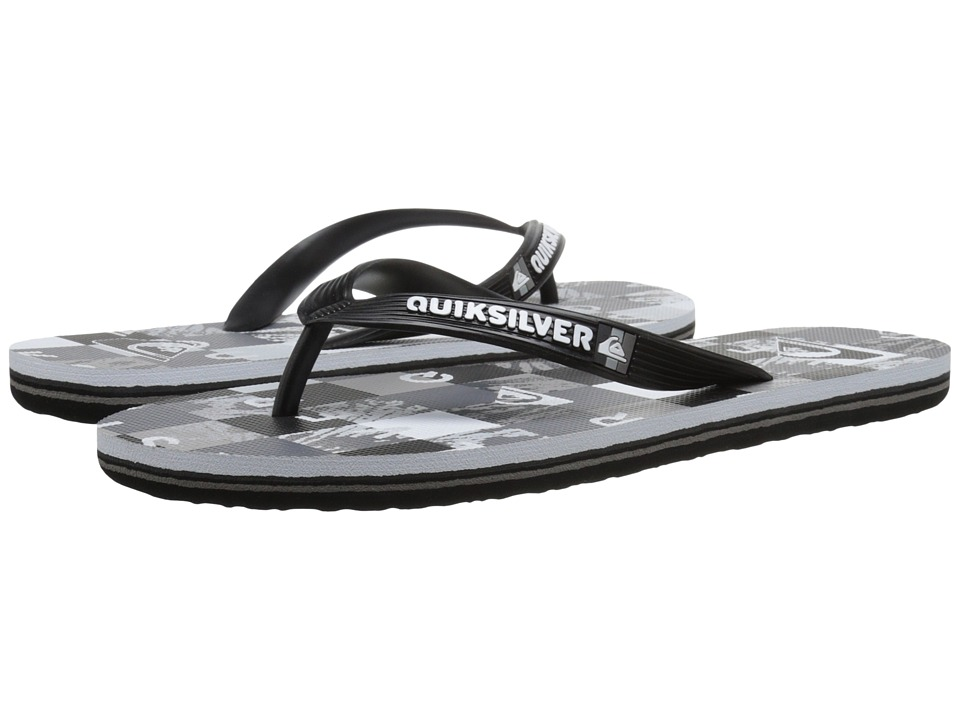 Quiksilver - Molokai Check Remix (Black/Grey/White) Men's Sandals