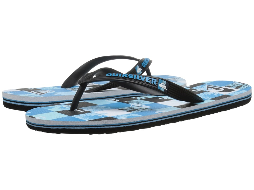 Quiksilver - Molokai Check Remix (Black/Blue/White) Men's Sandals