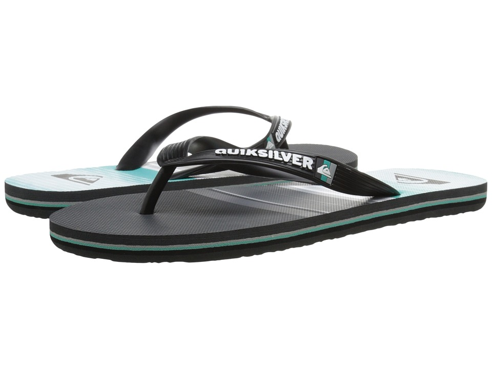 Quiksilver - Molokai Everyday Stripe (Black/Grey/Green) Men's Sandals