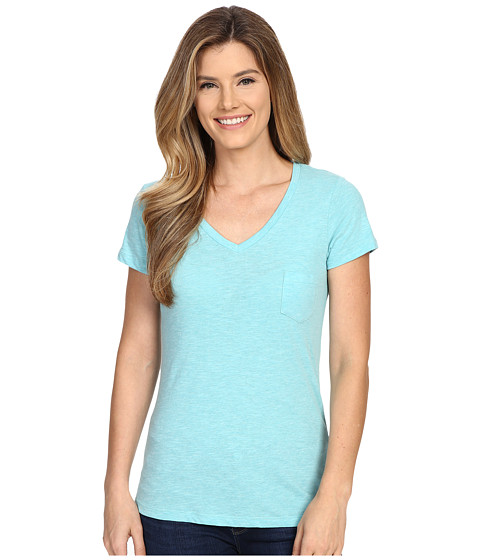 Columbia - Everyday Kenzie V-Neck Tee (Miami Heather) Women's Short Sleeve Pullover