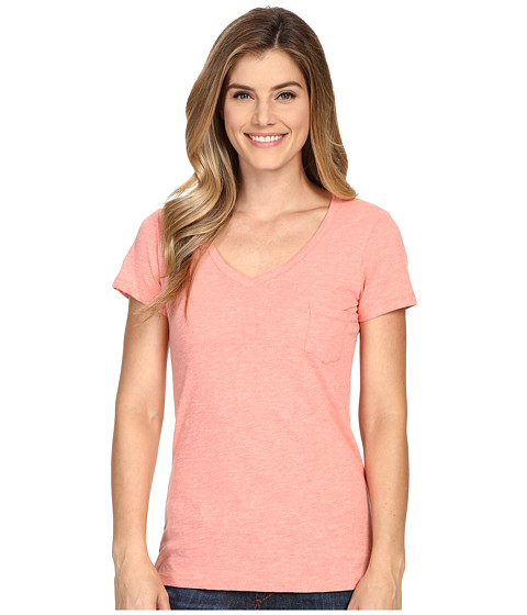 Columbia - Everyday Kenzie V-Neck Tee (Coral Bloom Heather) Women