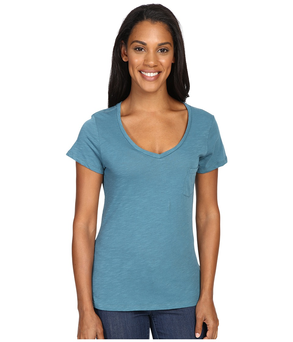 Columbia - Everyday Kenzie V-Neck Tee (Cloudburst) Women's Short Sleeve Pullover
