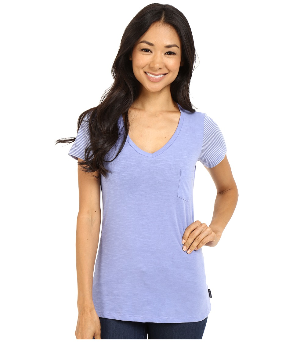 Columbia - Everyday Kenzie V-Neck Tee (Pale Purple Blocked Stripe) Women's Short Sleeve Pullover