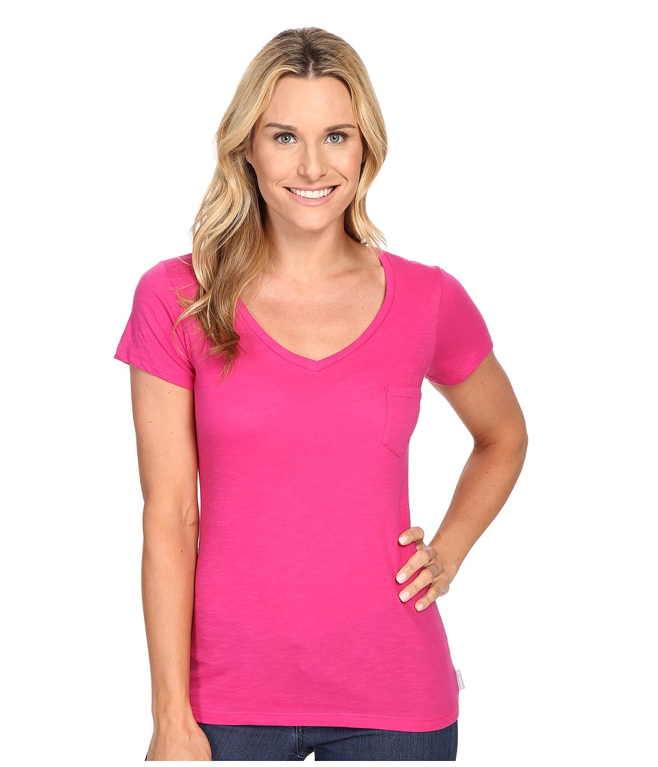 Columbia - Everyday Kenzie V-Neck Tee (Haute Pink) Women's Short Sleeve Pullover