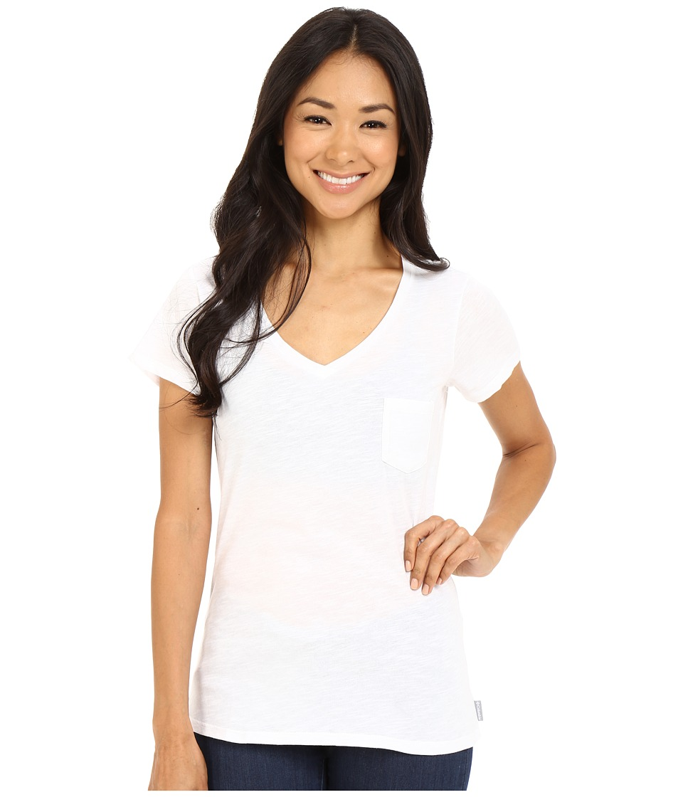 Columbia - Everyday Kenzie V-Neck Tee (White Beacon) Women's Short Sleeve Pullover