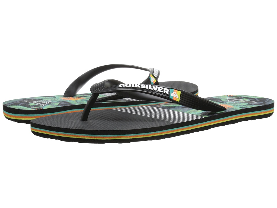 Quiksilver - Molokai AG47 Remix (Black/Black/Green) Men's Sandals