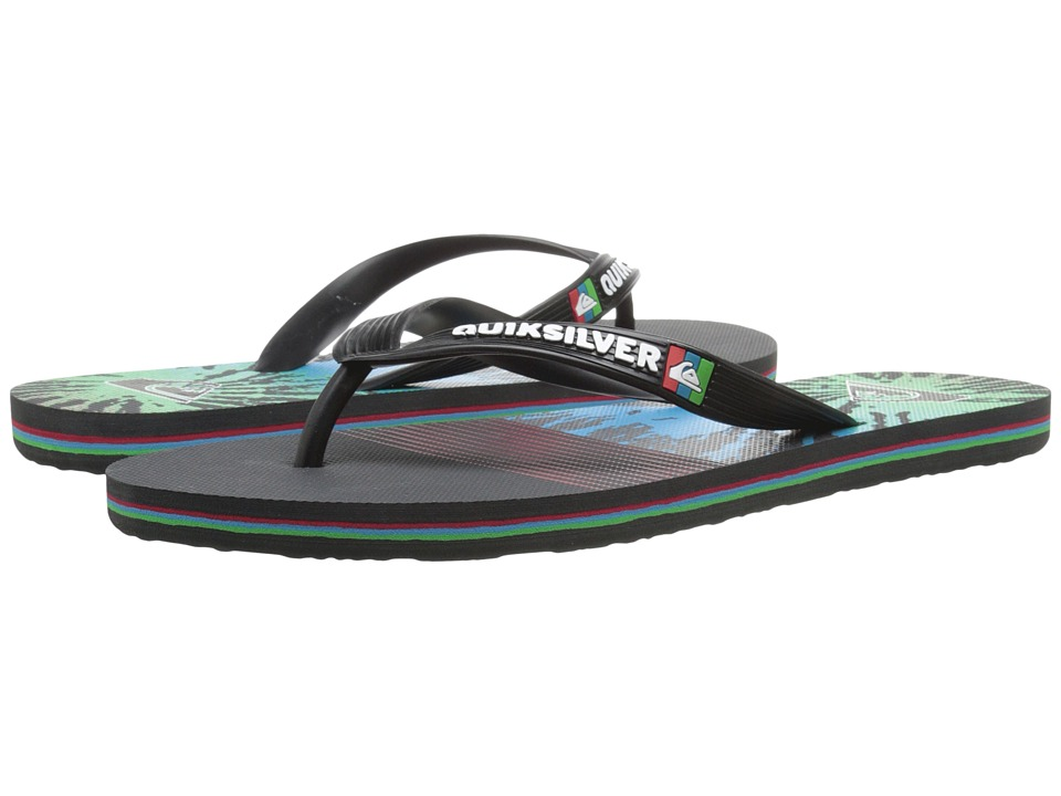 Quiksilver - Molokai AG47 Remix (Black/Red/Green) Men's Sandals
