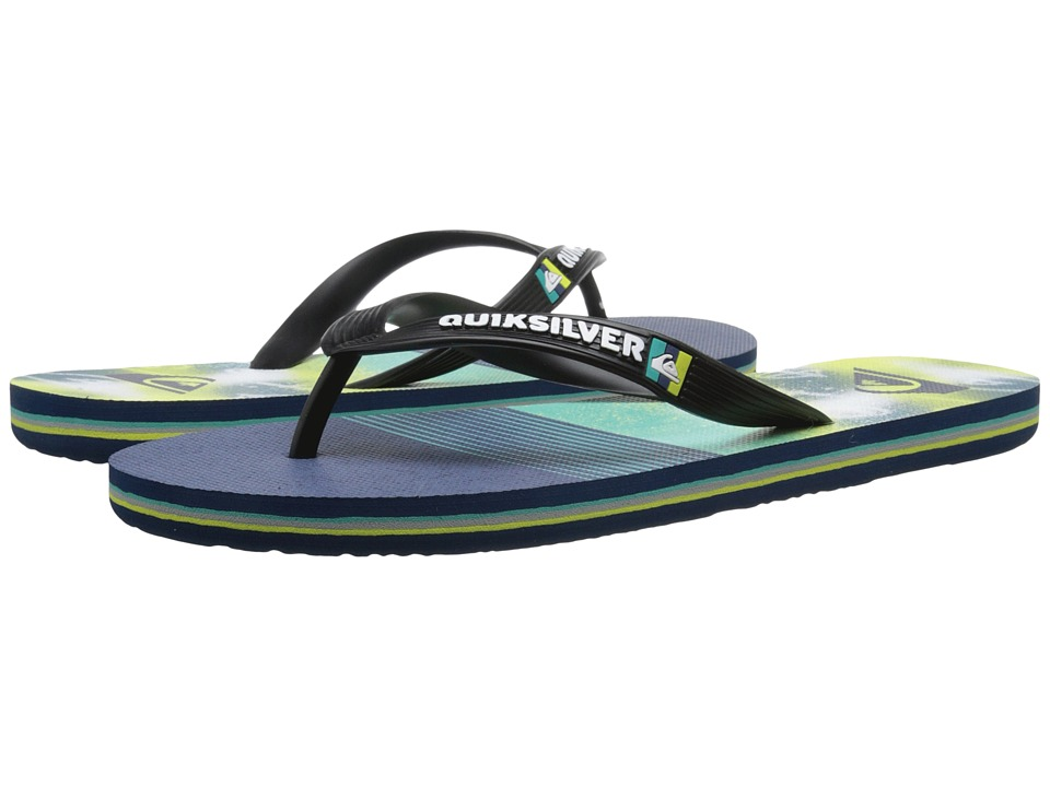 Quiksilver - Molokai AG47 Remix (Black/Blue/Green) Men's Sandals