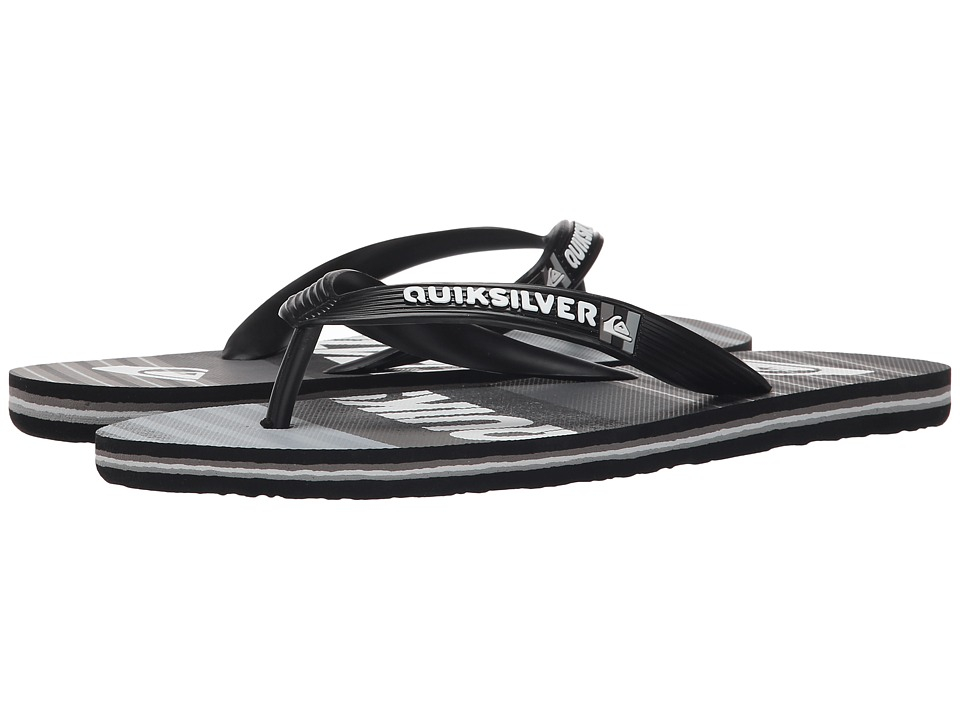 Quiksilver - Molokai Inclined (Black/Black/Grey) Men's Sandals
