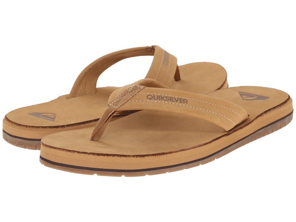 Quiksilver - Carver FG (Tan Solid) Men's Sandals