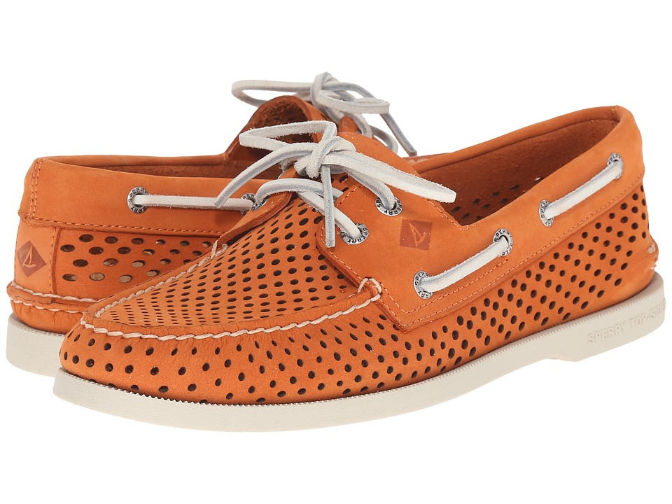 Sperry Top-Sider - A/O 2-Eye Laser Perf (Orange) Men's Lace up casual Shoes