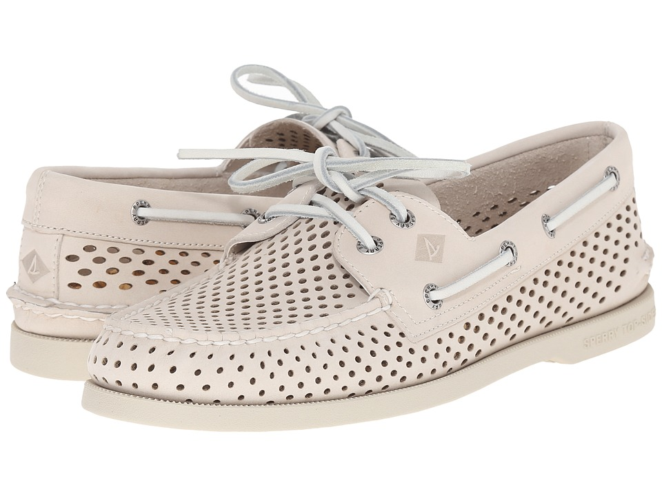 Sperry Top-Sider - A/O 2-Eye Laser Perf (Ivory) Men's Lace up casual Shoes