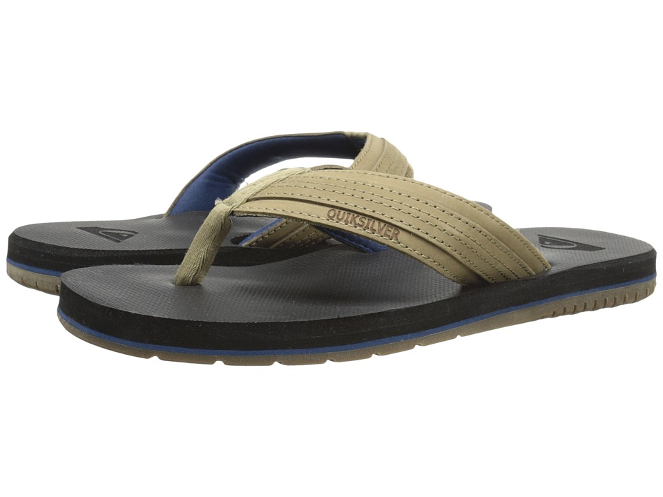 Quiksilver - Coastal Oasis (Brown/Brown/Blue) Men's Sandals