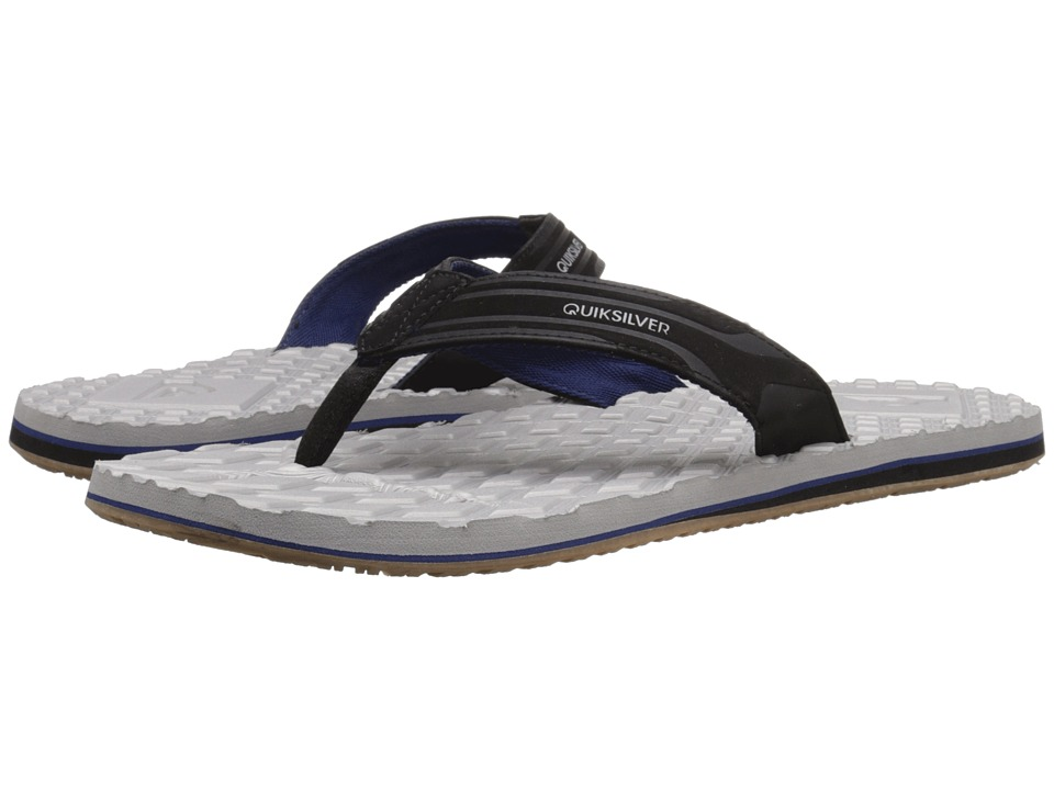 Quiksilver - Monkey Texture (Black/Grey/Blue) Men's Sandals