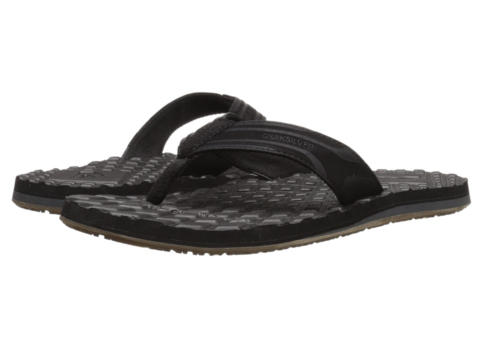Quiksilver - Monkey Texture (Black/Black/Brown 2) Men's Sandals