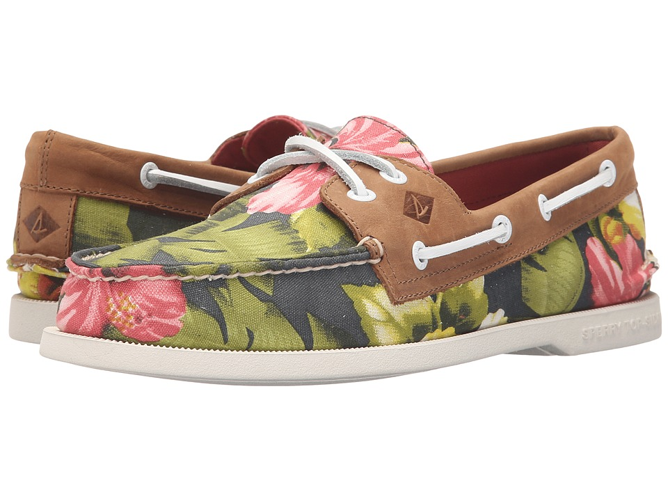 Sperry Top-Sider - A/O 2-Eye Floral (Green) Men's Lace up casual Shoes