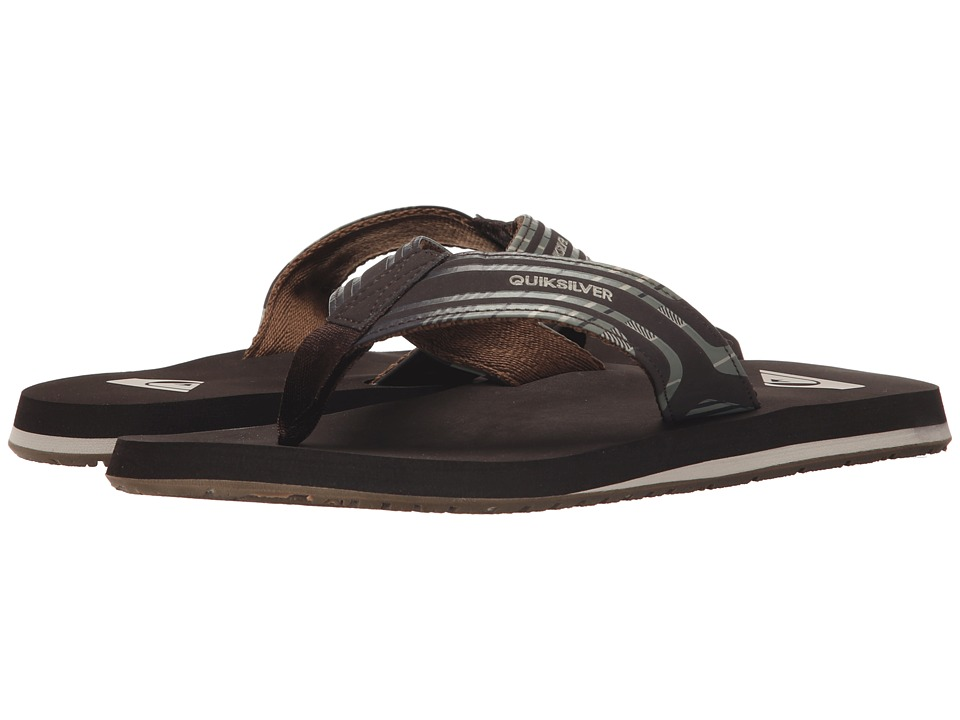 Quiksilver - Monkey Wrench Print (Brown/Brown/Brown) Men's Sandals