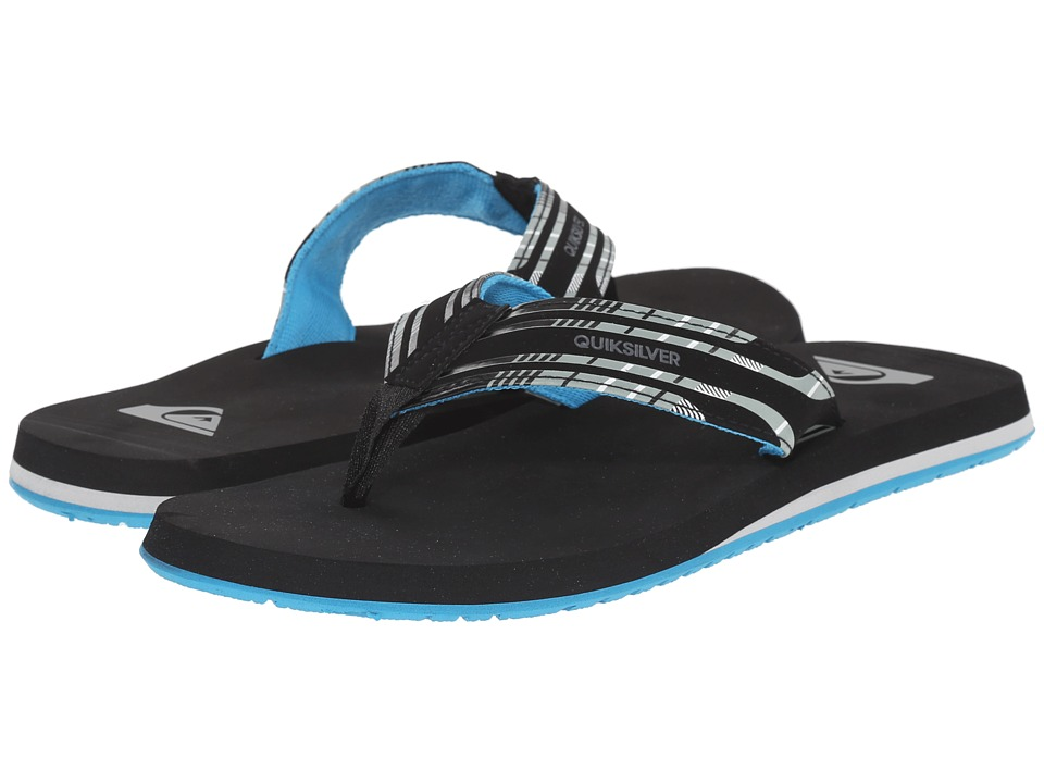 Quiksilver - Monkey Wrench Print (Black/Black/Blue) Men's Sandals