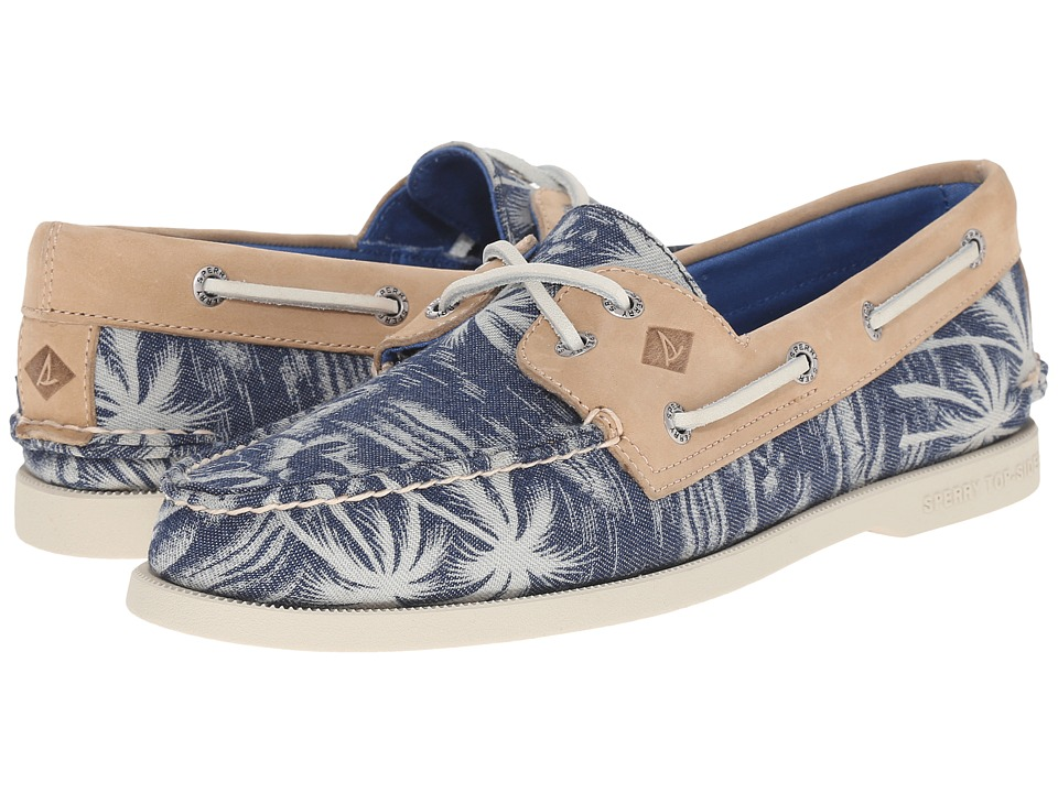 Sperry - A/O 2-Eye Chambray (Navy Palm) Men's Lace up casual Shoes