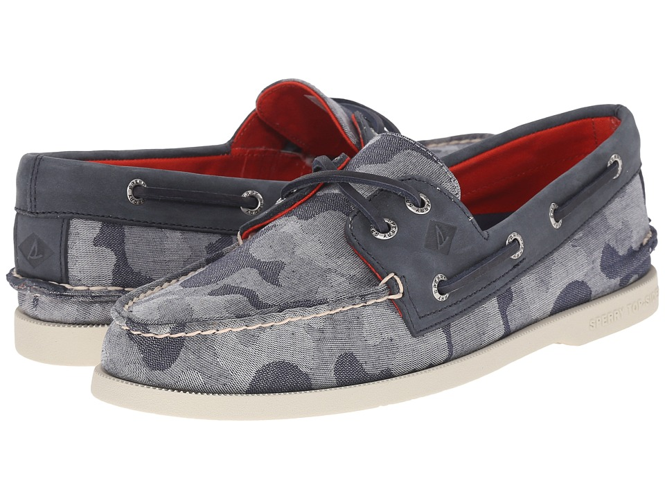 Sperry Top-Sider - A/O 2-Eye Chambray (Blue Camo) Men's Lace up casual Shoes