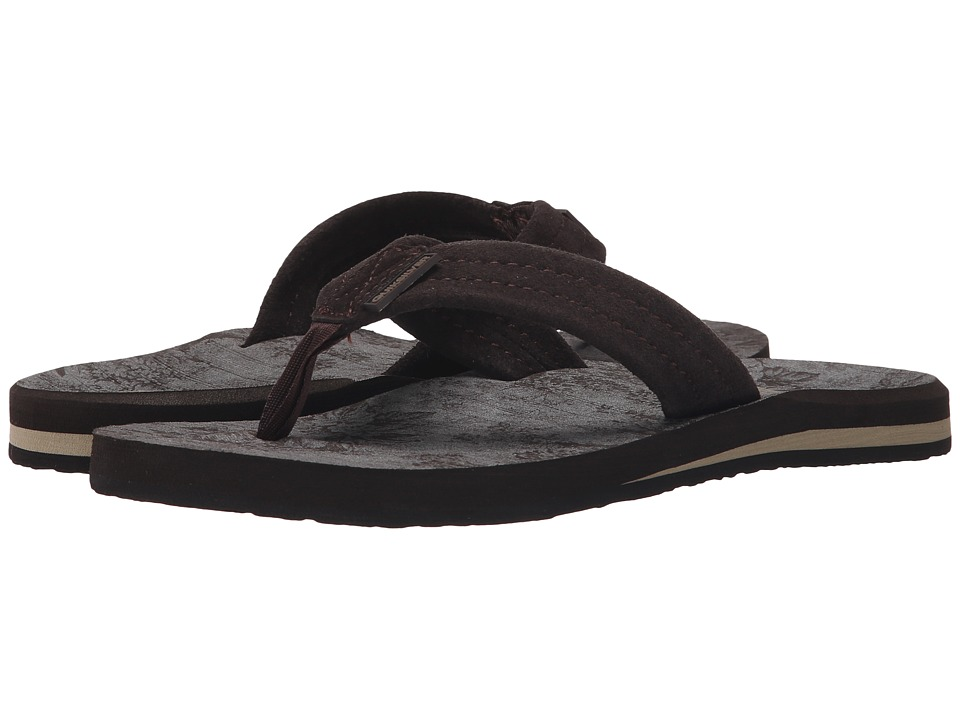 Quiksilver - Carver Suede Art (Brown/Brown/Black) Men's Sandals