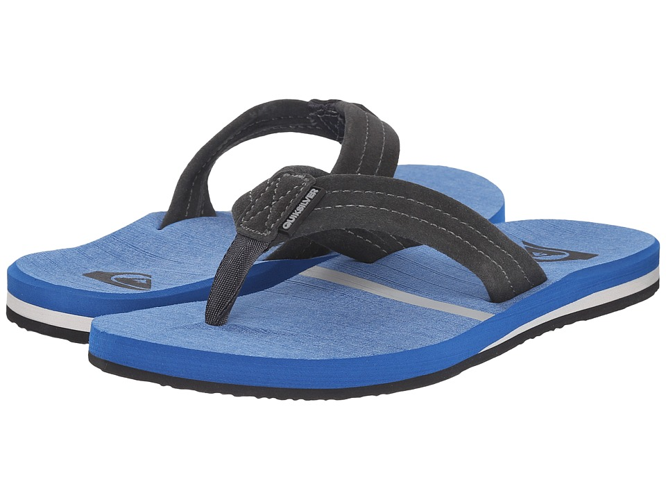 Quiksilver - Carver Suede Art (Grey/Blue/Blue) Men's Sandals