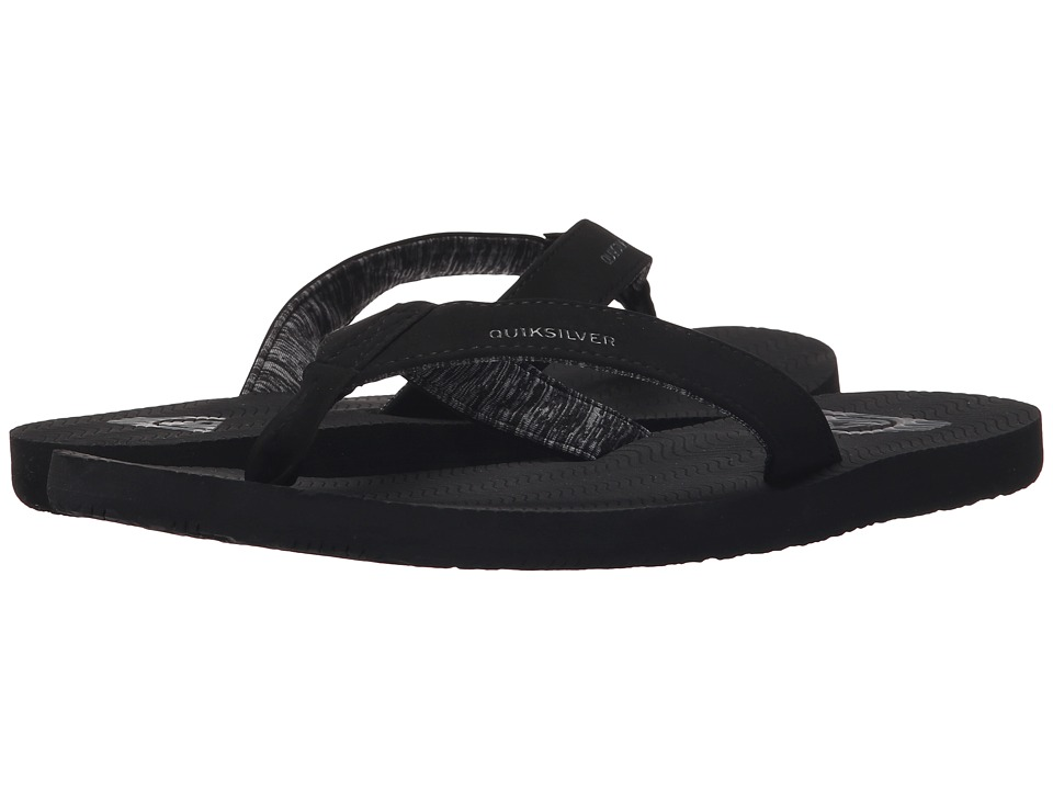 Quiksilver - Molokai Laser Grip (Solid Black) Men's Sandals