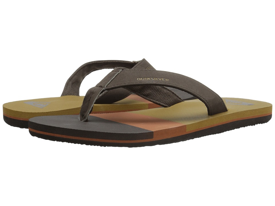 Quiksilver - Molokai Deluxe (Brown/Brown/Brown) Men's Sandals