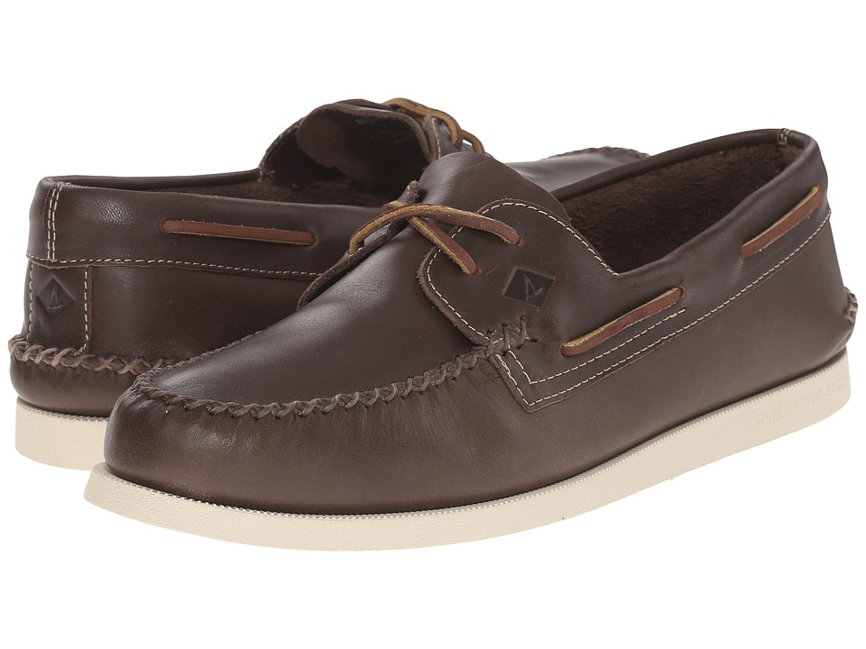 Sperry Top-Sider - A/O 2-Eye Wedge Leather (Brown) Men's Lace up casual Shoes