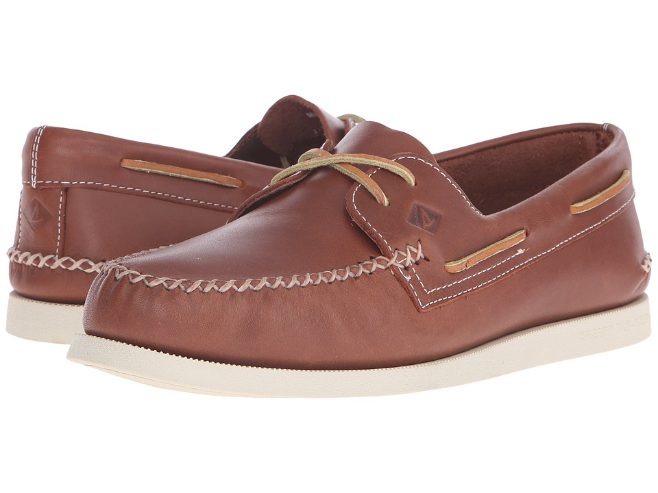 Sperry Top-Sider - A/O 2-Eye Wedge Leather (Tan) Men's Lace up casual Shoes