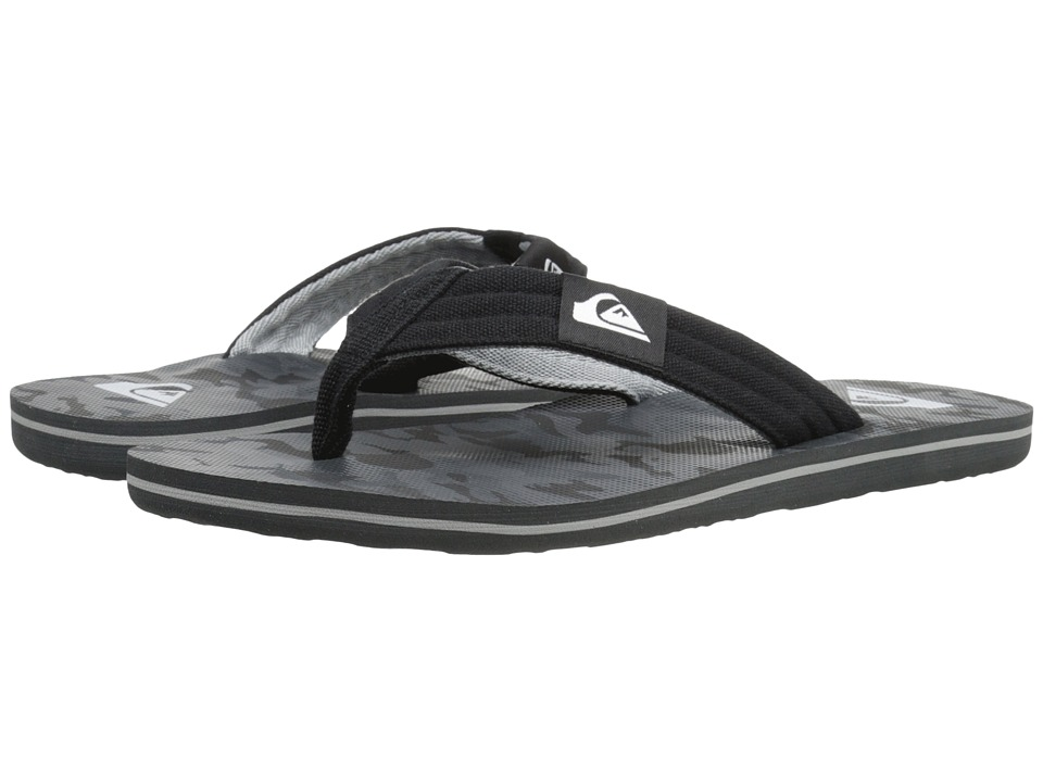Quiksilver - Molokai Layback (Black/Black/Grey) Men's Sandals