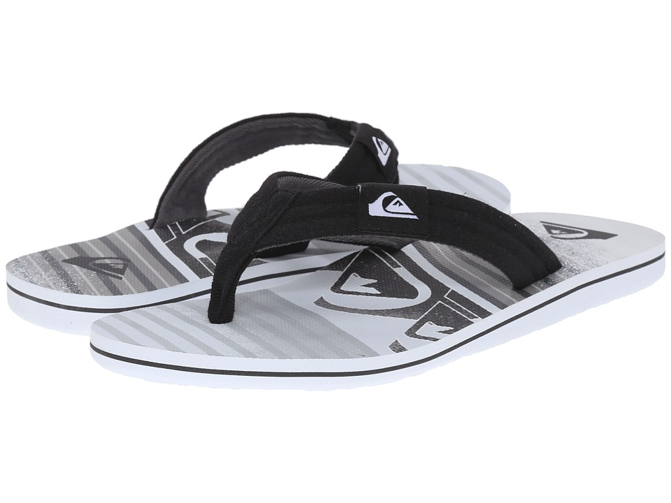 Quiksilver - Molokai Layback (Black/Grey/White) Men's Sandals