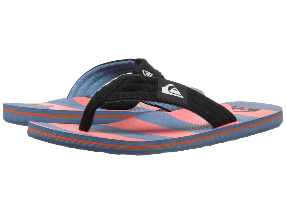 Quiksilver - Molokai Layback (Black/Red/Blue) Men's Sandals