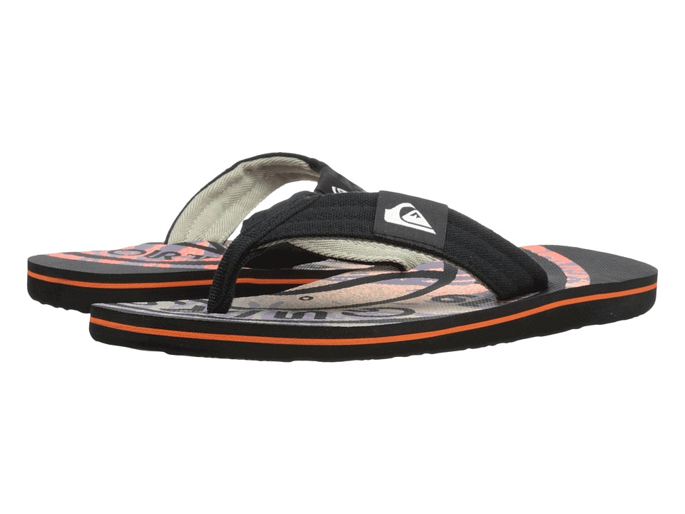 Quiksilver - Molokai Layback (Black/Red/Red) Men's Sandals