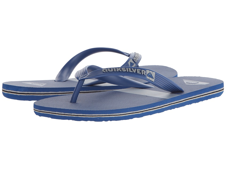 Quiksilver - Molokai Stripe (Blue/Grey/Blue) Men's Sandals