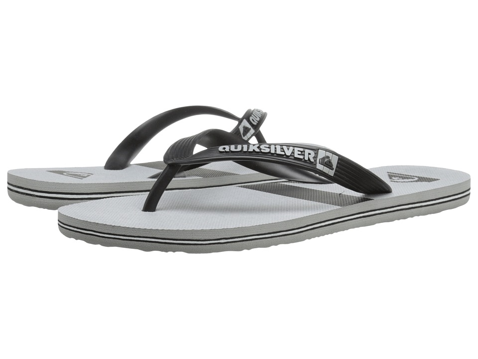 Quiksilver - Molokai Stripe (Black/Grey/Black) Men's Sandals
