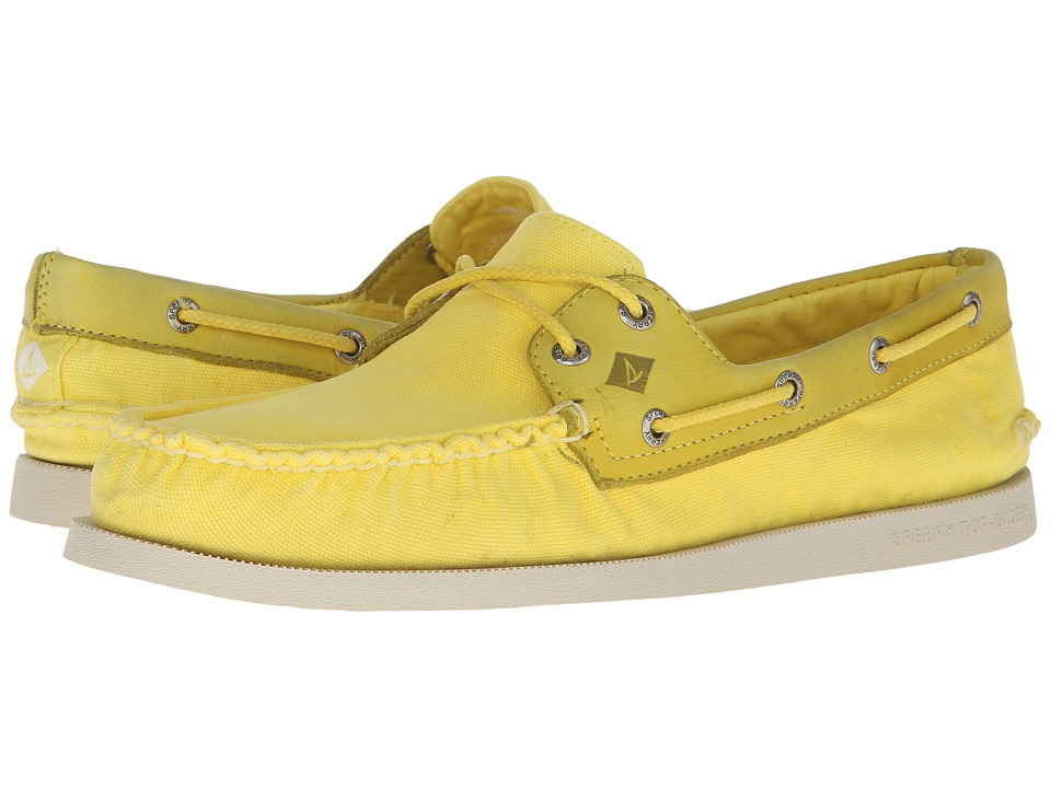 Sperry - A/O 2-Eye Wedge Canvas (Yellow) Men's Lace up casual Shoes