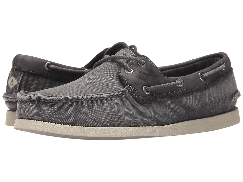 Sperry - A/O 2-Eye Wedge Canvas (Grey) Men's Lace up casual Shoes