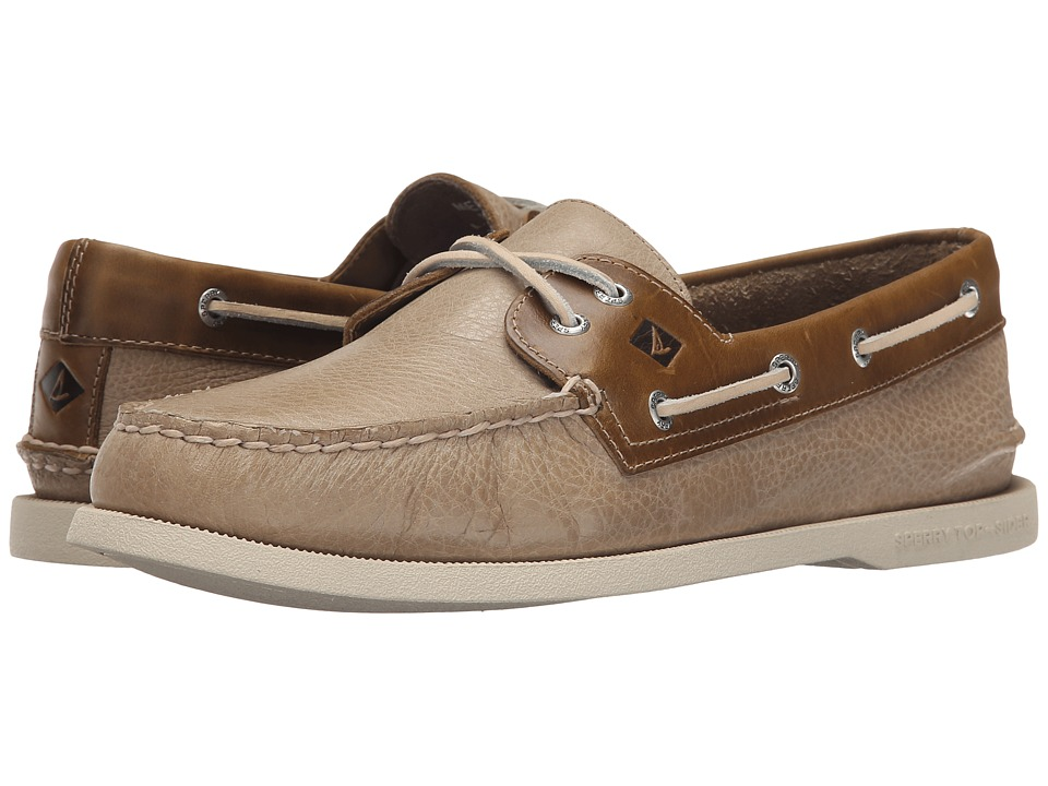 Sperry - A/O 2-Eye Cross Lace (Tan 2) Men's Lace up casual Shoes