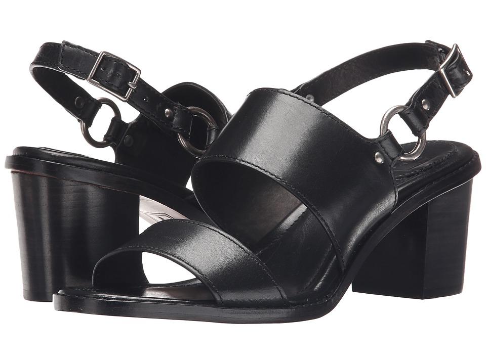 Frye - Brielle Harness Sandal (Black Smooth Polished Veg) High Heels
