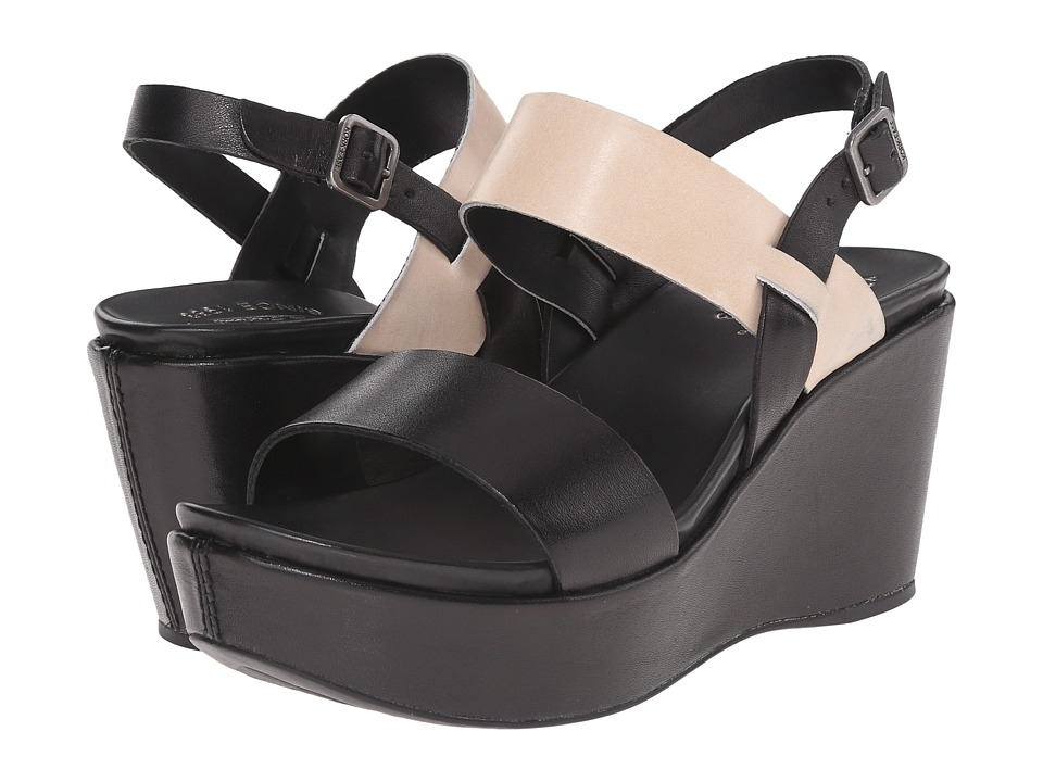 Kork-Ease - Austin (Black/Vanilla (Off White)) Women's Wedge Shoes