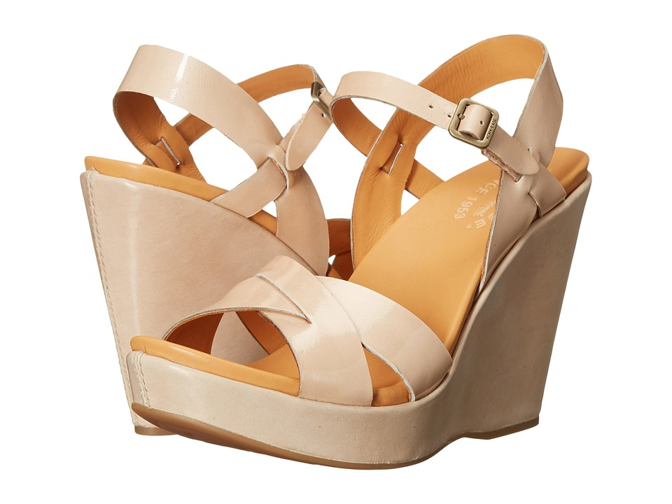Kork-Ease - Bette 2.0 (Natural/Vanilla (Off White) Patent Combo) Women's Wedge Shoes