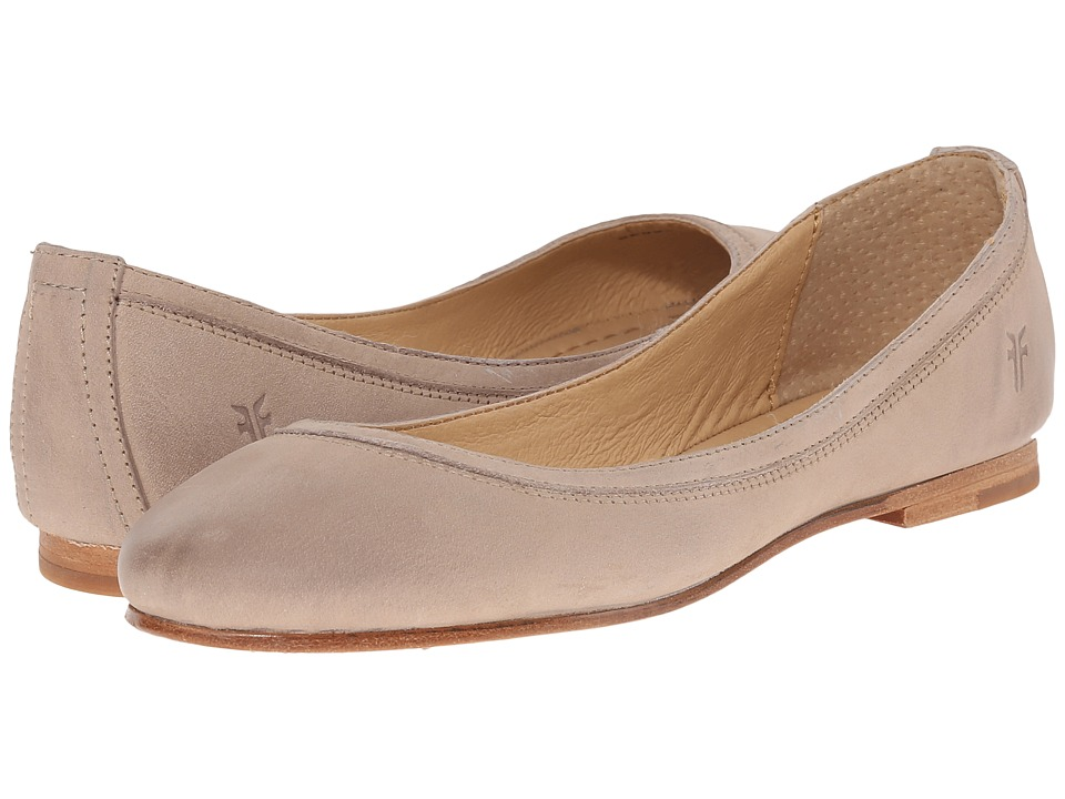 Frye - Carson Ballet (Cement Soft Nubuck) Women's Flat Shoes