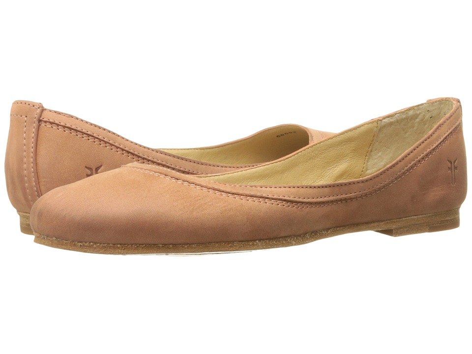 Frye Carson Ballet (Dusty Rose Soft Nubuck) Women