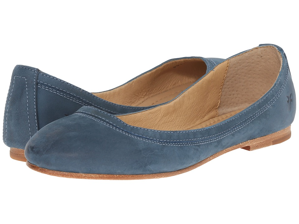 Frye - Carson Ballet (Jeans Soft Nubuck) Women