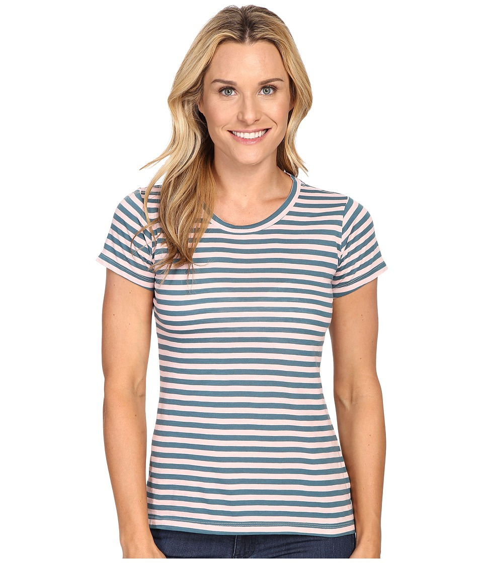 Columbia Everyday Kenzie Crew Neck Tee (Vintage Pink Stripe) Women